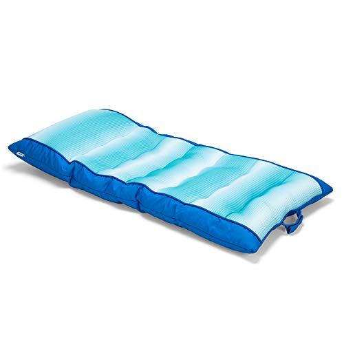 Big Joe Mesh Kona Float, Faded Stripe Aqua