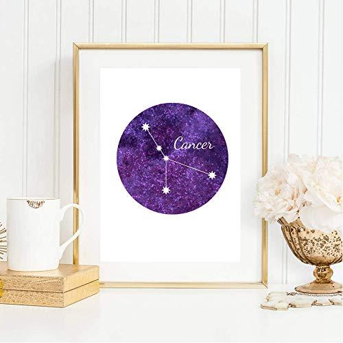 Din A4 Kunstdruck ungerahmt Sternzeichen Horoskop Krebs Cancer Astrologie Sterne Sternhimmel Sternbild Druck Poster Deko Bild