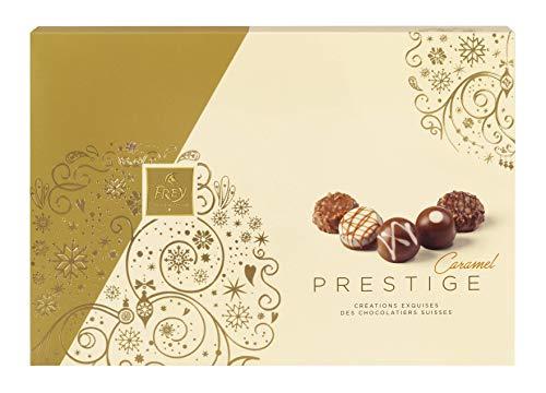 Frey Pralinés Prestige Caramel 255g - Assortierte Pralinen zum Verschenken - Schweizer Premium Schokolade - UTZ zertifiziert - Confiserie-Spezialitäten