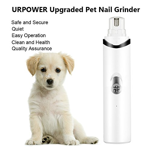 URPOWER Rechargeable Pet Nail Grinder Upgraded USB Charging Nail Trimmer Clipper...