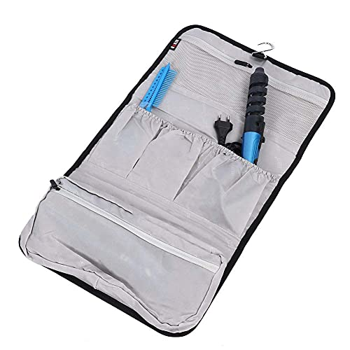 Fön Aufbewahrungsbeutel, Multi-Beutel mit Haken Aufhänger Faltbare Lockenstab Reiseveranstalter Tasche, Wasserdichte Nylon Haar Gebläse Veranstalter Tasche für Dyson Airwrap Styler