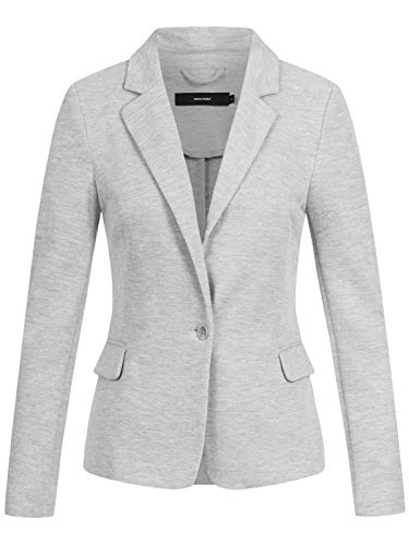 VERO MODA Female Blazer Jersey 36Light Grey Melange