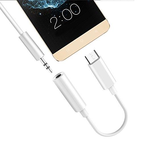 Adaptador de fone de ouvido Kaixiang USB C para 3,5 mm, adaptador digital auxiliar macho tipo C para fêmea USB C de alta resolução para conversor de áudio compatível com Samsung Galaxy Note 10, OnePlus 7 Pro/ 7T/ 7/ 6T branco