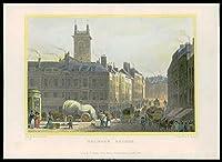 1831ロンドン - ホルボーン橋のオリジナルのアンティークプリントビュー(91)