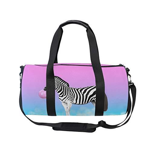 MNSRUU Reisetasche, niedliches Zebramuster mit bunten Wolken, groß, für Reisen, Reisen, Reisetasche