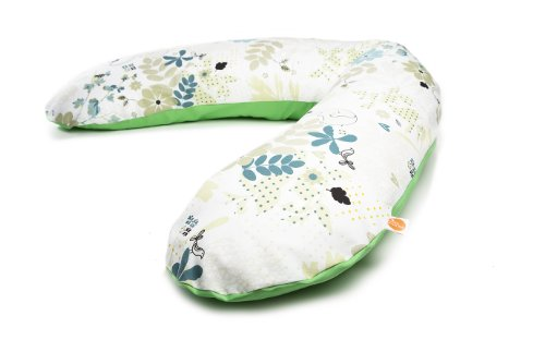 millemarille Stillkissen 195 cm   großes Schwangerschaftskissen & Lagerungskissen   Bezug aus Ökotex-Baumwolle, waschbar   Füllung aus ungiftigen Mikroperlen   inkl. Nachfüllkissen   Elegant Elephants