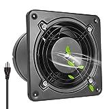HG POWER Through-the-Wall Ventilation Fan High CFM 6 Inch Exhaust Fan Extractor Blower Exhaust Garage Kitchen Bathroom Ventilation Fan (308 CFM)