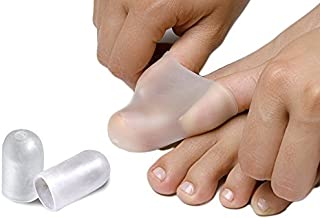 NatraCure Gel Toe Cap and Finger Protector - 1 Pair - (Size: Small/Medium) - Helps Cushion and Reduce Pain from Corns, Blisters, Hammer Toes, and Ingrown Nails