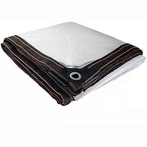 HLLING Lona Impermeable Transparente con Ojales Dosel De La Planta Lona De Protección Fortalecer Cubierta A Prueba De Viento PE por Invernadero Techo (Color : Clear, Size : 3.5x3.5m)
