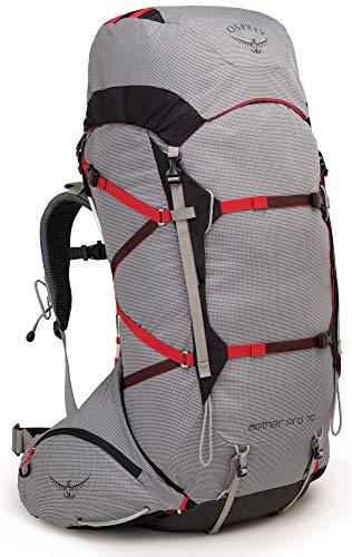 Osprey Aether Pro 70 - Zaino da trekking, taglia L, colore: Grigio