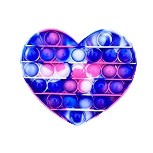 DANWAN Push Pop Pop Bubble Push in Regenbogen Farbe zur Ablenkung bei Stress & Nervosität für Kinder und Erwachsene Fidget Ca