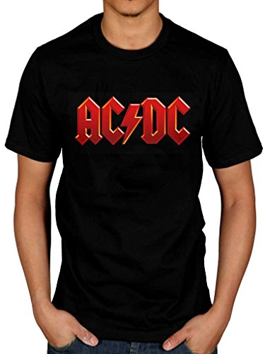 Official AC/DC Red Logo T-Shirt Rock Band Rock And Roll Indie