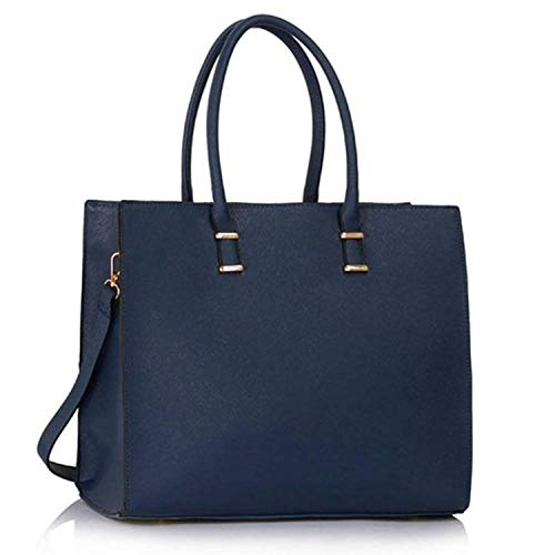 Damen Handtasche Schultertasche Tasche Large Umhängetasche Entwerfer Shopper Henkeltasche, Neu (Dunkelblau)