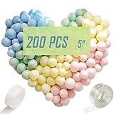 200 Stück 5' Bunte Luftballons Pastell, Latex Farbige Macaron Ballon Girlande Arch für Party Dekorative Hochzeit Weihnachten Geburtstag Luftballon Party Deko