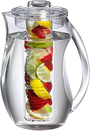 fruit infused water pitcher glass - 2