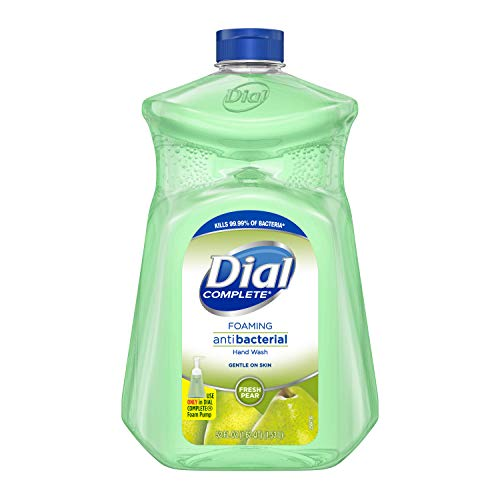 Dial Complete Antibacterial Foaming Hand Soap, Fresh Pear, 52 Ounce Refill
