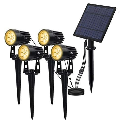 Luce Solare Da Giardino T-Sunrise 4 Pcs Luce Solare A Led Ip65 Lampade Da Esterno Impermeabili Per Esterni Lampade Da Parete Solari On/Off Per Lampada Solare Da Giardino-3000K