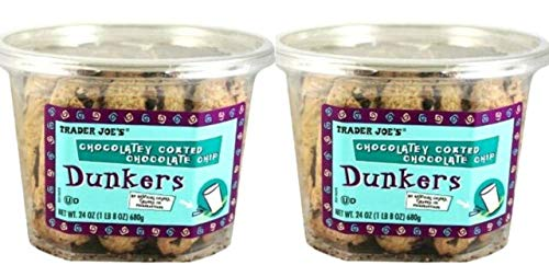 TJ's Chocolatey Coated Chocolate Chip Dunkers - 2 Pack (24oz) 1 LB 8 oz