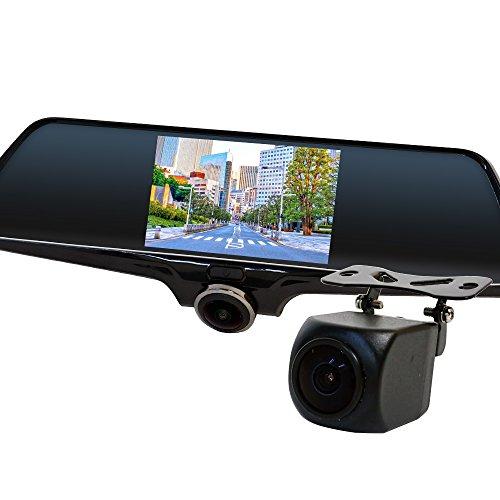 ドライブレコーダー 360度 全方位録画 セット ( バックカメラ 録画中ステッカー 2枚 microSD 16GB) J500C894B