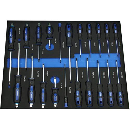 TrutzHolm® Werkstattwagen Premium XXL bestückt Profi-Werkzeug aus Chrom-Vanadium 7 Schubladen und ein Seitenfach gefüllt Assistent Werkzeugwagen - 2