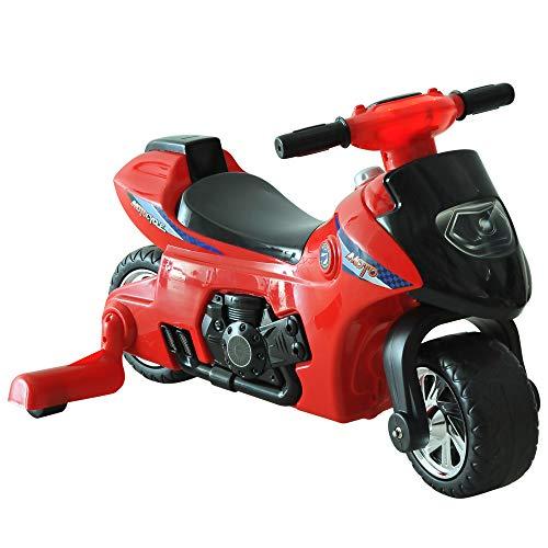 HOMCOM Moto Correpasillos Infantil Coche sin Pedales para Bebé Juguete Andador Estilo Carrera con Bocina 70.2x32.5x41cm