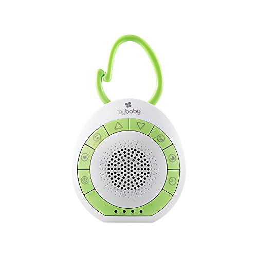 MyBaby SoundSpa On-The-Go-Portable White Noise Machine, 4 Soothing Sounds with 15, 30, and 45-Minute Auto Shutoff, Integrated Clip for Easy Transport, Giftable, Small and Lightweight, by HoMedics