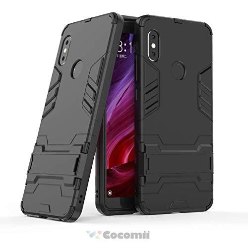 Cocomii Iron Man Armor Xiaomi Redmi Note 5/Note 5 Pro Hülle, Schlank Dünn Matte Vertikaler und Horizontaler Ständer Schutz Case Bumper Cover Schutzhülle for Xiaomi Redmi Note 5/Note 5 Pro (Jet Black)