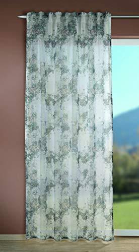 Albani Schal mit verdeckten Schlaufen Dalina grün/grau 245x135