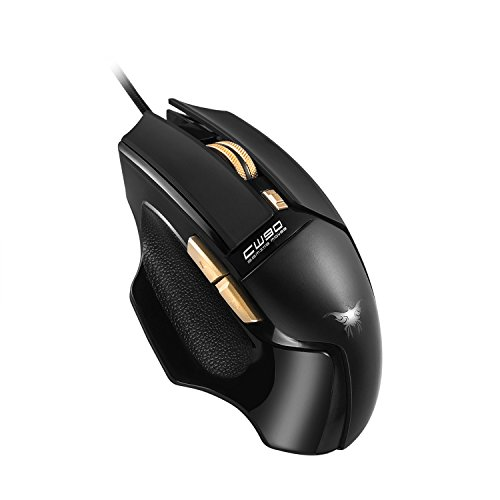 Wired Gaming Mouse with 6 Buttons Combaterwing CW 90 3800 DPI Mice Design Breathing LED Colors for Gamer PC MAC
