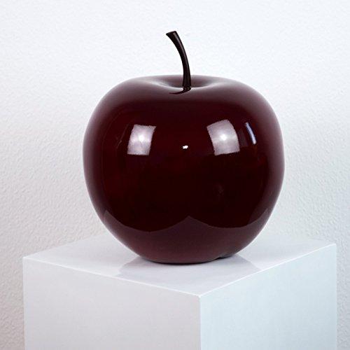 Elegant Einrichten Deko Obst Apfel Bordeauxrot-D15xH18cm