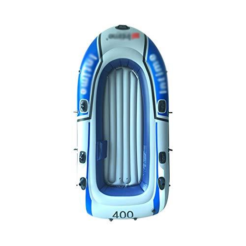 Tingeart Barco Inflable Kayak, Canoa Barco de Pesca Portátil Inflable En Bote Plegable De Goma Boat Bote de Goma PVC 275x152CM