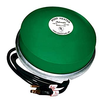 Farm Innovators P-429 Submergible Fish and Plant Safe All Pond De-Icer with Chew Proof Cord and Self Regulating Thermostat Silver