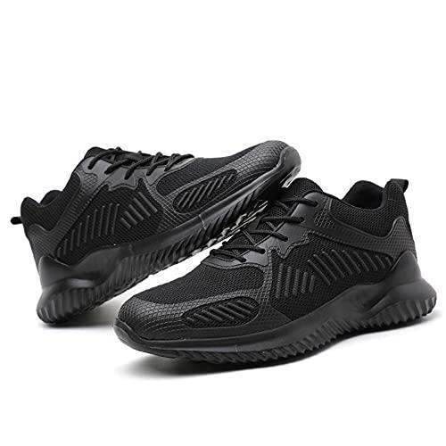Zapatos de trabajo,Botas de seguridad casuales antideslizantes resistentes al desgaste con puntera de acero,anti-rotura,anti-puñaladas,transpirables,tejidos con mosca,Zapatos de construcción,EU 36-46