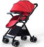 LYP Triciclo Bebé Trolley Trike Cochecito Ultra Ligero Plegable Puede Sentarse Mentira Amortiguador Amortiguador Carro de niños Alto Paisaje un botón Plegable (Color : #2)