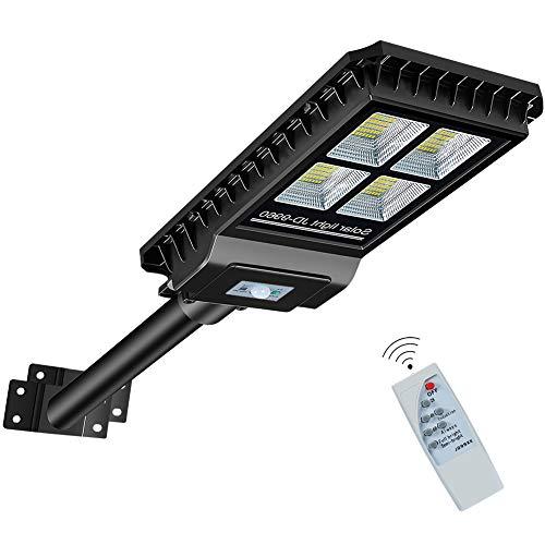Solar Street Light, RuoKid 280 LEDs 2500lm IP65 16500mAH High Bright Solar Light with PIR Motion Sensor Remote Control Mounting Pole for Street & Area Lighting