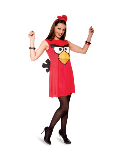 M-gicos de papel 213307 Angry Birds Red Bird Sassy Adult Costume - rojo - Grande - 12-14