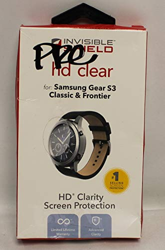 ACS COMPATIBLE with ZAGG InvisibleShield HD Clear Screen Protector Samsung Gear S3 Classic Frontier Replacement