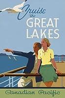 1930年代のクルーズ五大湖、ブリキの看板ヴィンテージ面白い生き物鉄の絵画金属板ノベルティ