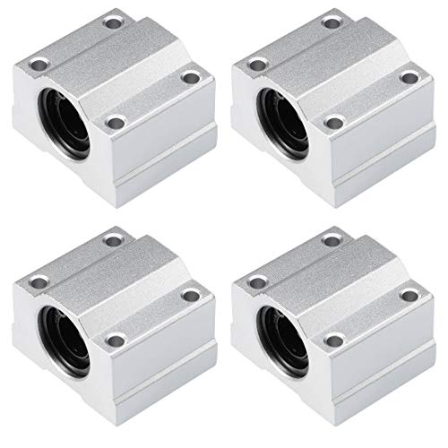 uxcell SCS12UU Linear Ball Bearing Slide Block Units, 12mm Bore Dia (Pack of 4)