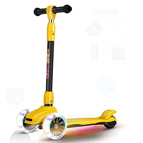 N-S Scooter Kid kemuely se Puede Montar en Scooter de Tres en uno Yellowfoldingwideningoffroadwheel