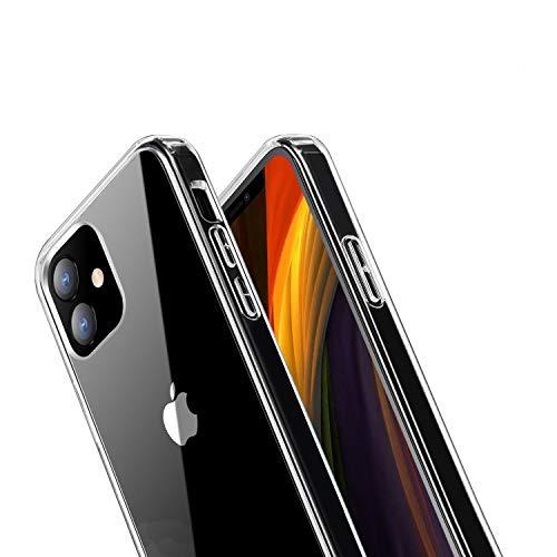 ANEWSIR Case per iPhone 12 PRO Max Cover Clear, Cover Posteriore in PC Trasparente a 360 Gradi, Cornice Morbido TPU [ Antiscivolo/AntiGraffio/Antiurto] Cover per iPhone 12 PRO Max(6.7'')