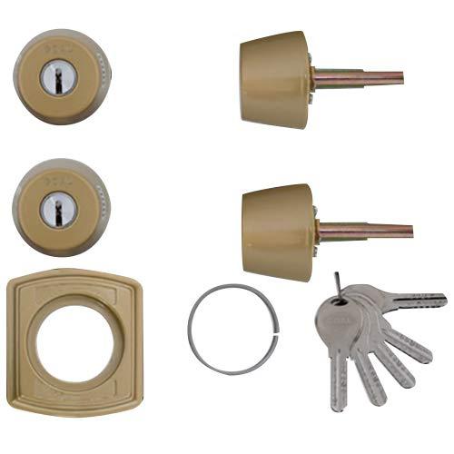 LIXIL(リクシル) TOSTEM ドア錠セット(GOAL V18シリンダー) ゴールド DCZZ1405