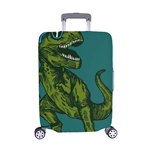 (Solo Cubrir) Feliz Dinosaurio Surfista con Gafas de Sol Dibujo Maleta con Trolley de Viaje Maleta Protectora de Viaje Cubierta Protectora para 28.5 X 20.5 Inch
