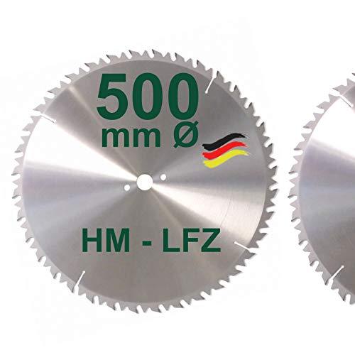 HM Sägeblatt 500 mm LFZ Flach-Zahn Hartmetall Widea für Brennholz Hartholz Kreissägeblatt für Wippsäge und Brennholzsäge 500mm