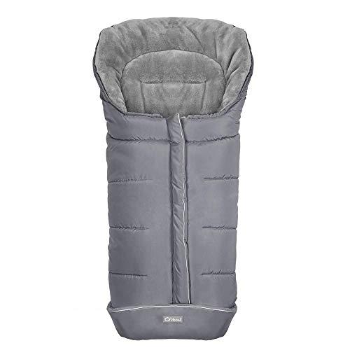 Saco de Dormir para Cochecito de bebé, Saco de Dormir para bebé Engrosado de otoño e Invierno, Cochecito de edredón Multifuncional Gray