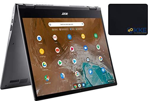 "Acer Spin 713 2-in-1 Chromebook, 13.5"" 2K 3:2 Touchscreen, Intel Core i5-10210U, 8GB RAM, 128GB SSD, Webcam, Backlit Keyboard, WiFi Bluetooth, HDMI, Chrome OS, KKE Mousepad Bundle"