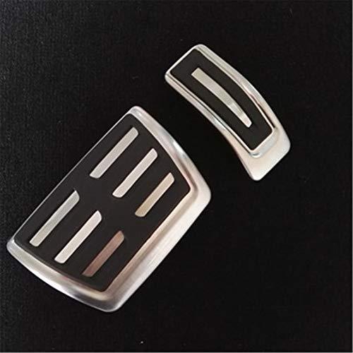 NUIOsdz Auto Pedalabdeckung Gaspedal Fußstützenplatte Refit Dekorieren Edelstahl Pad, Für Volkswagen VW Touareg 2019 2020 LHD