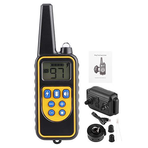 800M Dispositivo de adiestramiento de perros con control remoto Tapón de ladridos Collar eléctrico a prueba de agua Carga USB, Collar de adiestramiento de perros eléctrico Tapón de ladridos Herramient
