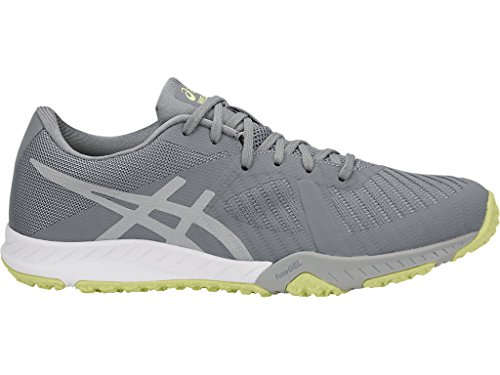 ASICS Women's Weldon X Training Shoes, 8.5M, Stone Grey/MID Grey/Limelight