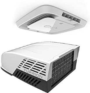 Furrion CHILL Rooftop Air Conditioner with Manual Control. Includes a Chill 14,500 BTU Rooftop Airconditioner (White) CHILL Air Distribution Box with Manual Control - EACMAN2